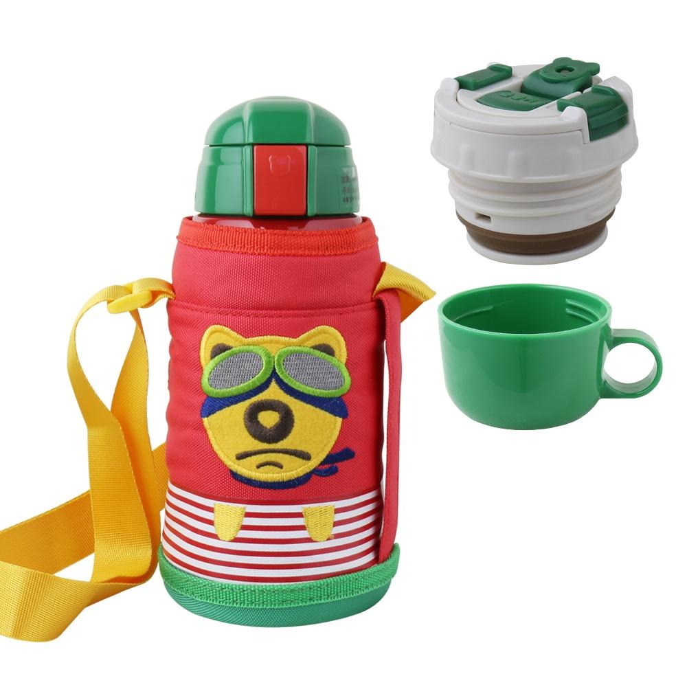 BEDDY BEAR|兒童可背式保溫保冷水壺600ML(寶貝熊)