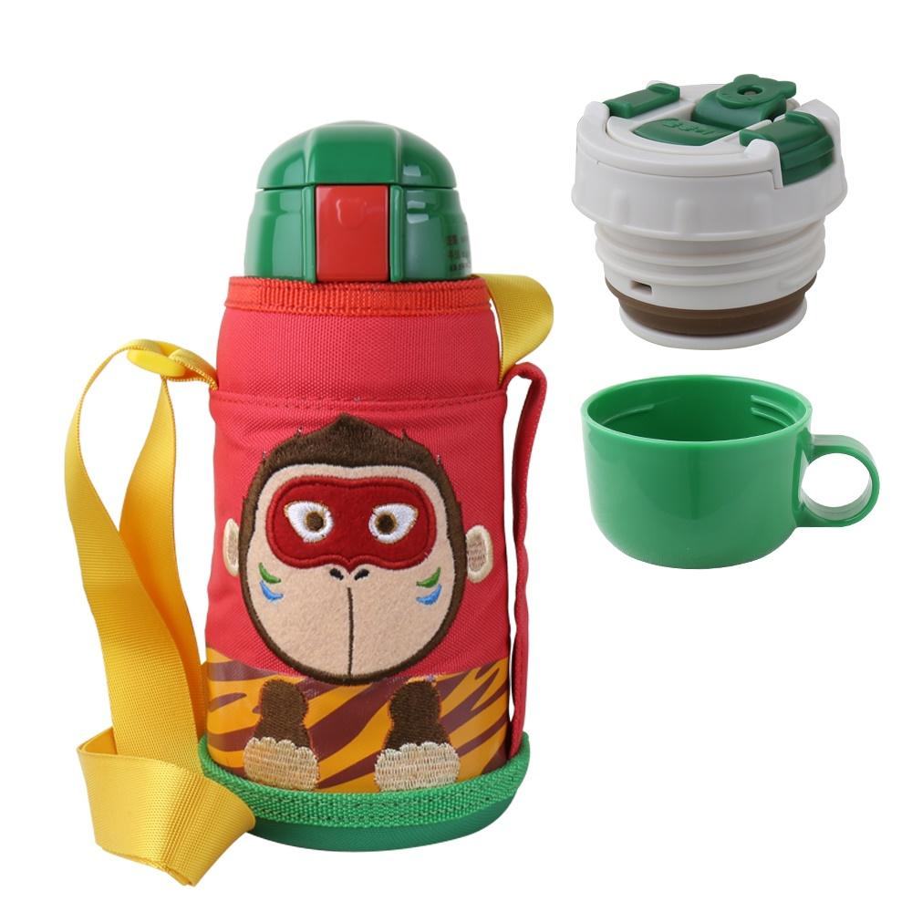 BEDDY BEAR|兒童可背式保溫保冷水壺600ML(神氣猴)