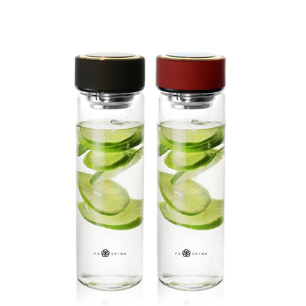 FUSHIMA 富島|禪風雅泡茶耐熱玻璃隨手瓶550ML(2色可選)