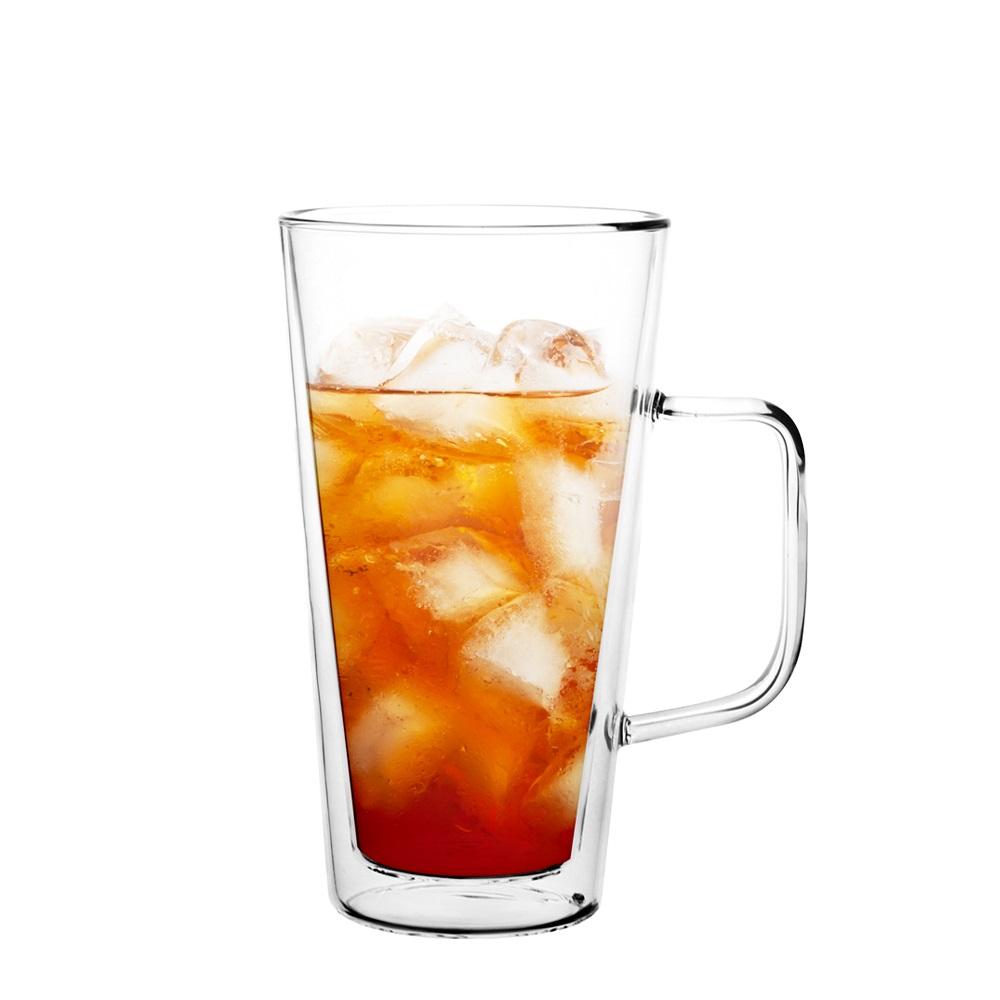 FUSHIMA 富島|經典系列雙層耐熱玻璃杯500ML(把手)