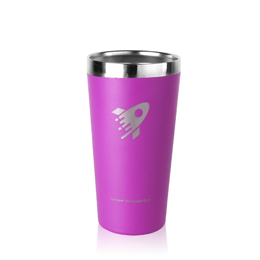 REVOMAX|316不鏽鋼鋼杯、啤酒杯、暢飲杯500ML(神秘紫)