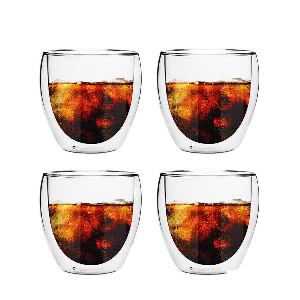 FUSHIMA 富島|經典系列雙層耐熱玻璃杯160ML*4入