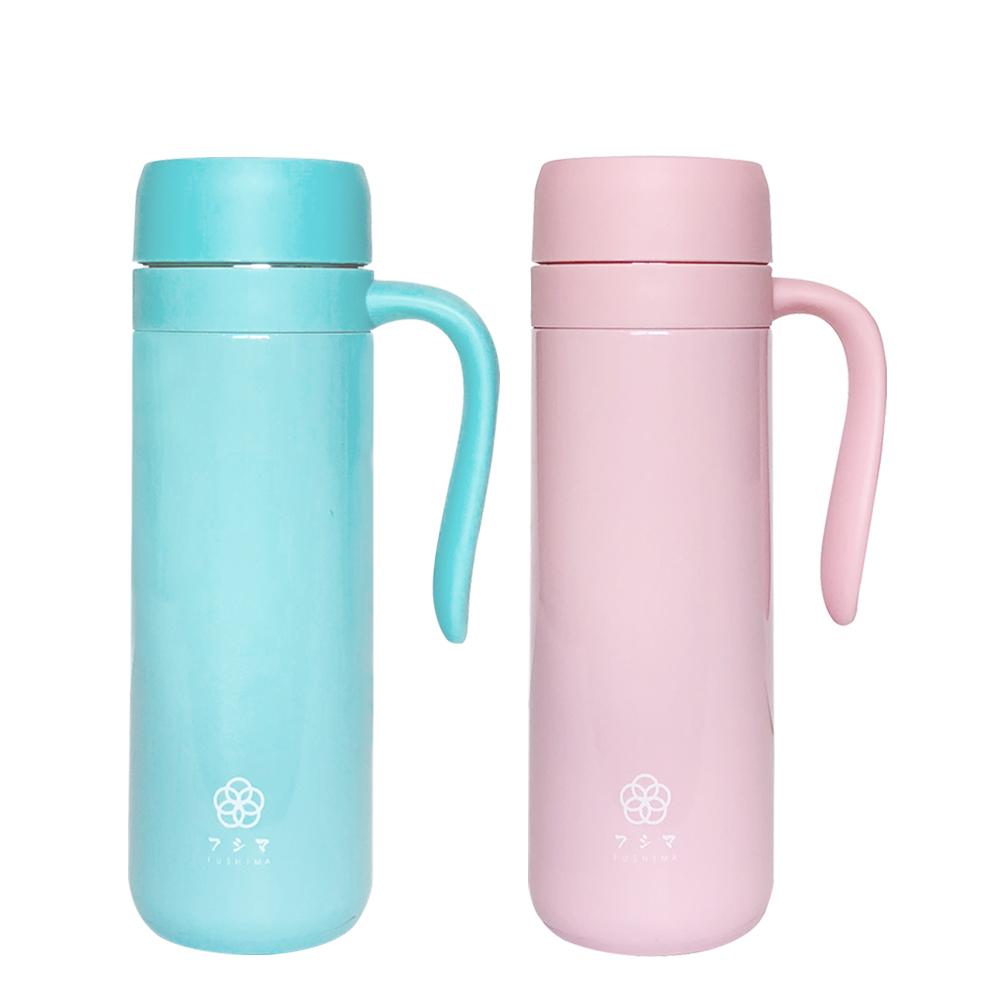 FUSHIMA富島|北歐風炫彩泡茶、咖啡兩用保溫瓶450ML(2色可選)