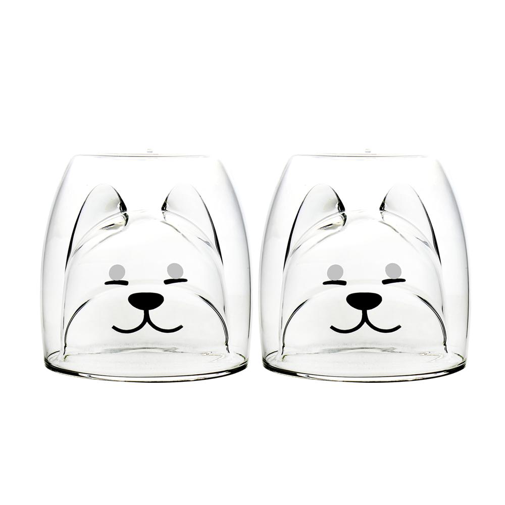 FUSHIMA 富島 2018年度限定-雙層耐熱玻璃杯旺福款200ML*2入
