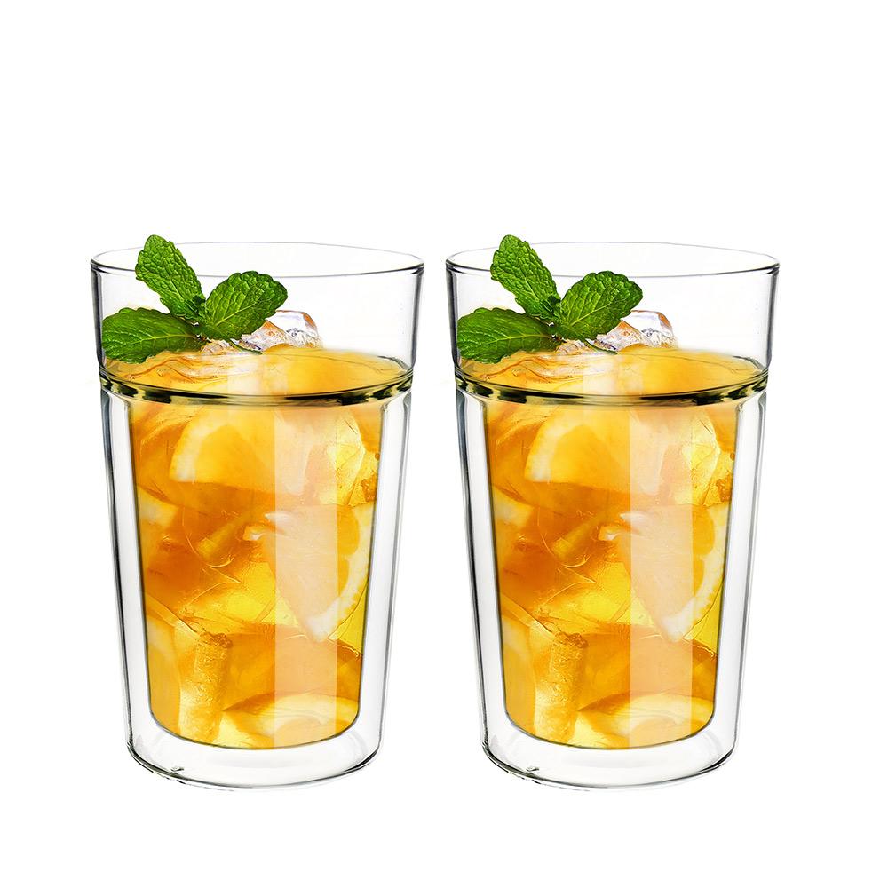FUSHIMA 富島|公爵系列雙層耐熱玻璃杯395ML*2入