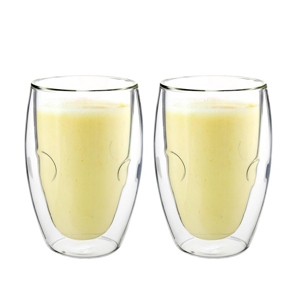 FUSHIMA 富島 Soda系列雙層耐熱玻璃杯370ML*2入