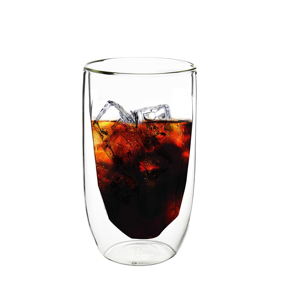 FUSHIMA 富島 冰裂系列雙層耐熱玻璃杯380ML