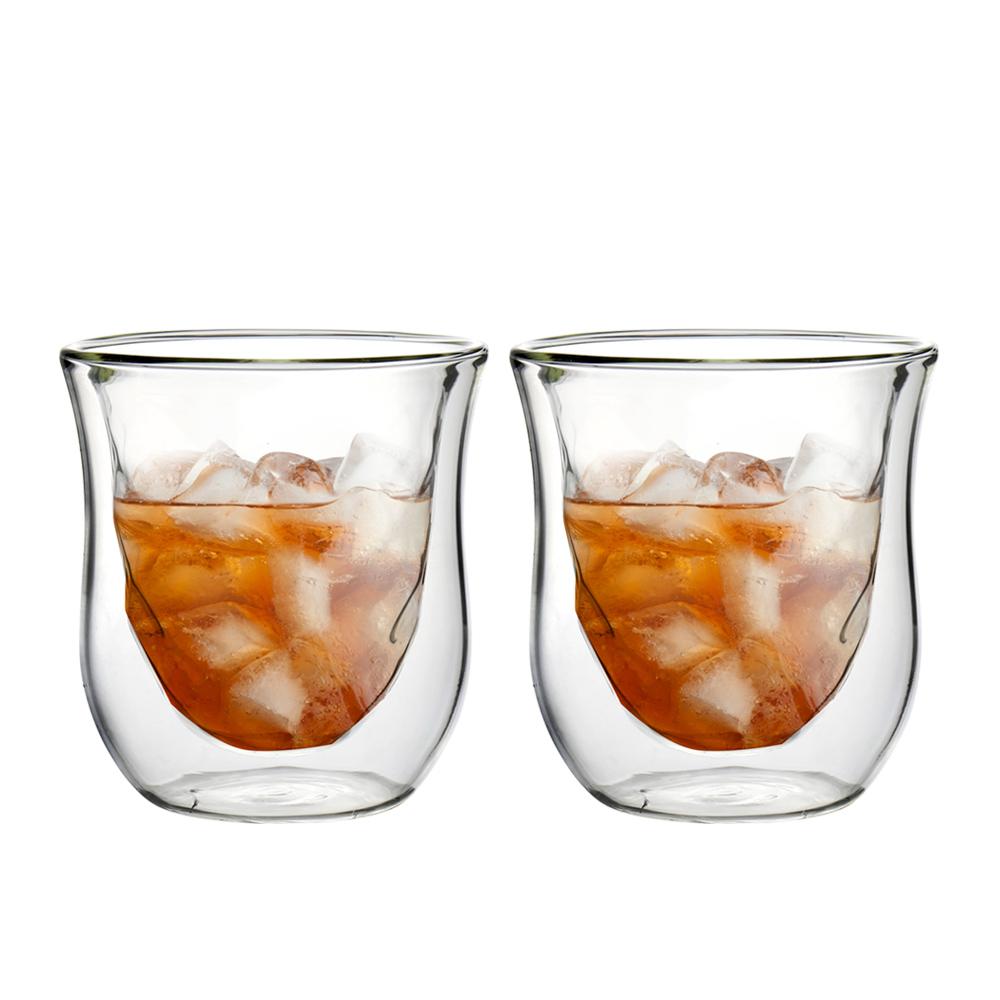 FUSHIMA 富島 星宸系列雙層耐熱玻璃杯200ML*2入