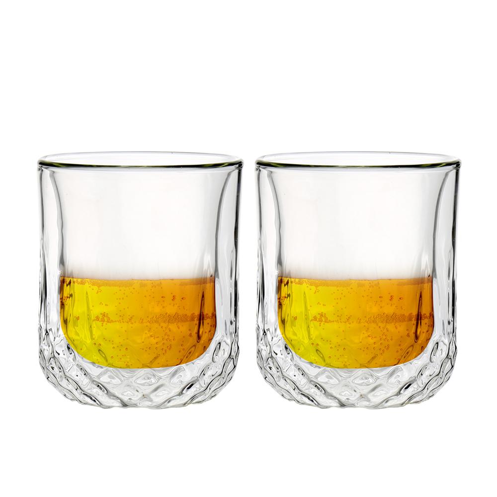FUSHIMA 富島|星宸系列雙層耐熱玻璃杯220ML*2入