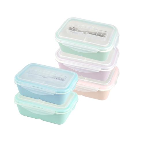 美國 Winox|樂瓷系列陶瓷保鮮盒長形附餐具2格1245ML(5色可選)