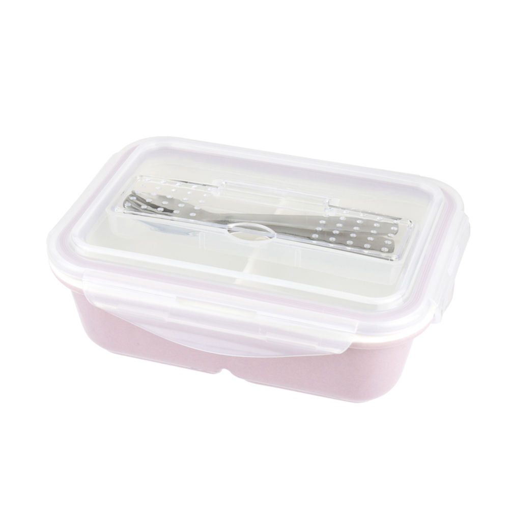 美國 Winox 樂瓷系列陶瓷保鮮盒長形附餐具3格815ML(3色可選)