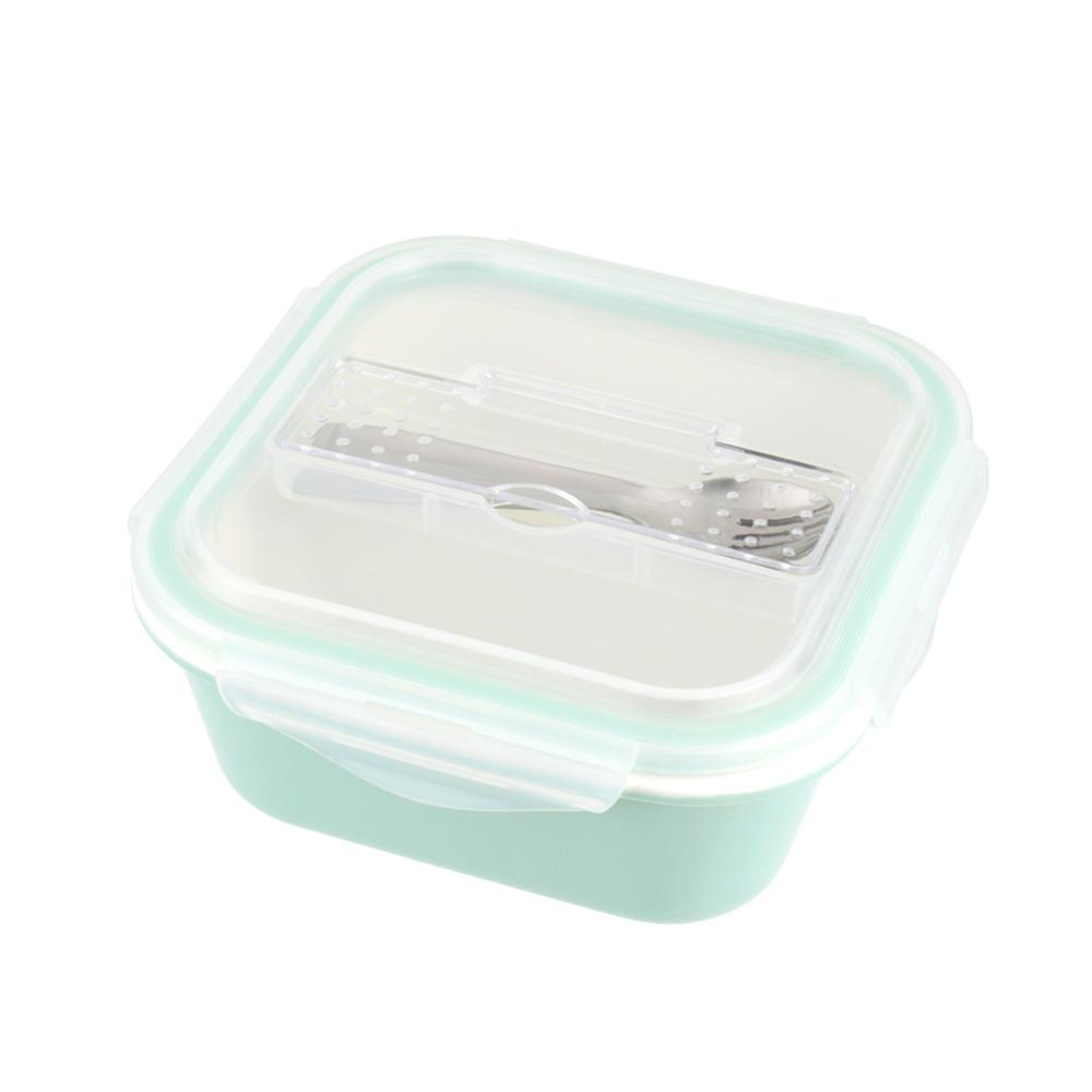 美國 Winox|樂瓷系列陶瓷保鮮盒方形附餐具2格960ML(2色可選)