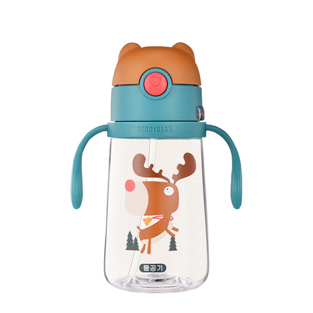 BEDDY BEAR 學飲系列可背式Tritan兒童水壺380ML(麋鹿)