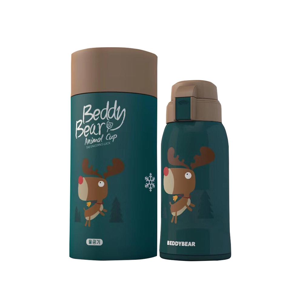 BEDDY BEAR 萌寶兒童水壺600ML附3D造型杯套-麋鹿