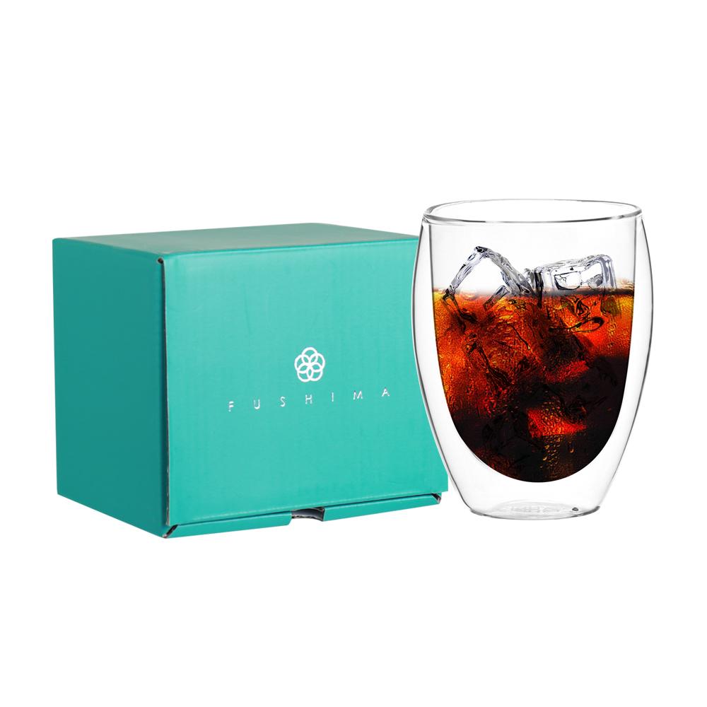 FUSHIMA 富島|雙層耐熱玻璃杯經典禮盒350ML