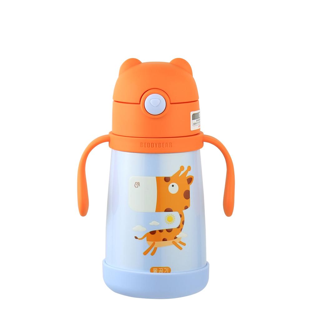 BEDDY BEAR|316不鏽鋼可背式兒童水壺300ML-長頸鹿