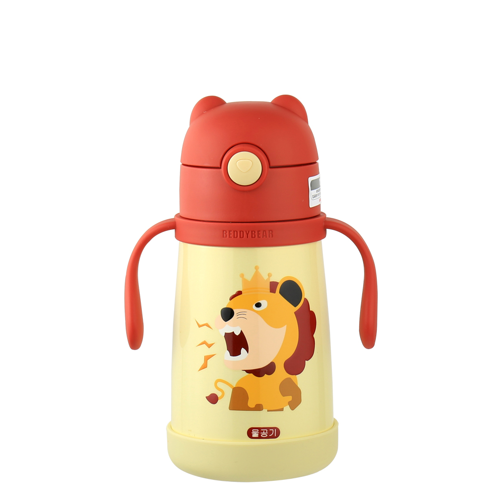 BEDDY BEAR|316不鏽鋼可背式兒童水壺300ML-獅子