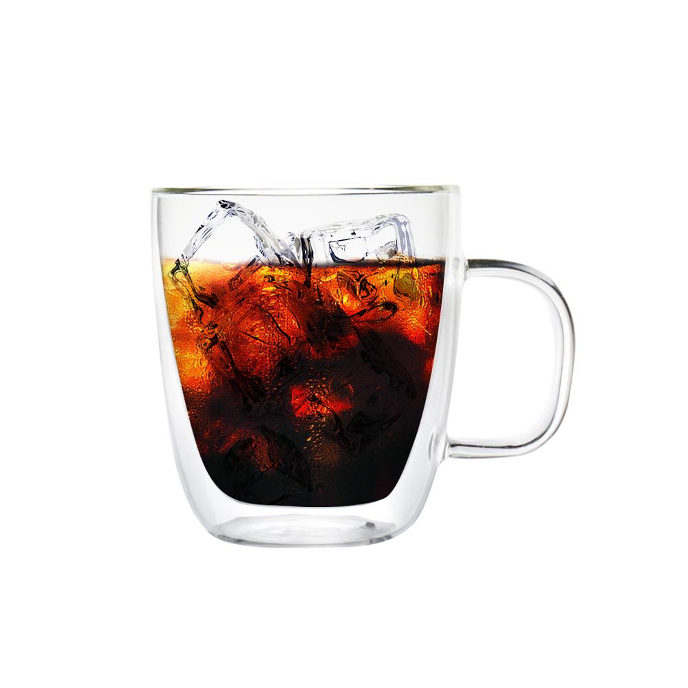 FUSHIMA 富島|經典系列雙層耐熱玻璃杯400ML(把手)