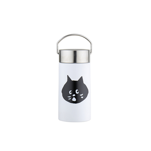 FUSHIMA 富島|FUSHIMA X NYA- 聯名款不鏽鋼簡約保溫瓶350ML(白色)