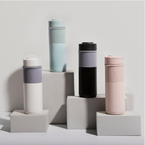 【集購】WOKY 沃廚|好口杯陶瓷環保提手杯500ML(4色可選)