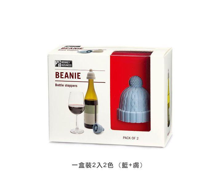 (複製)以色列 Monkey Business 酒瓶塞 - 毛帽(紅+膚)