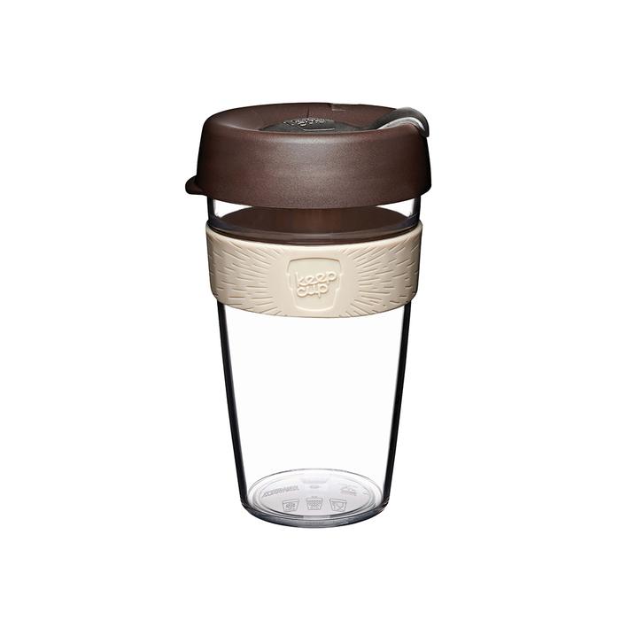 (複製)澳洲 KeepCup 隨身咖啡杯 晶透系列 L - 黑色幽默