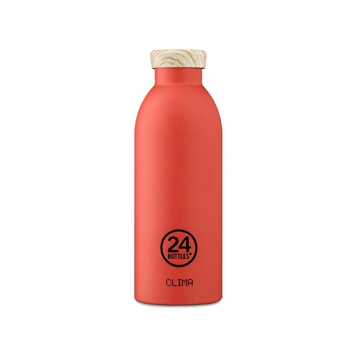 (複製)義大利 24Bottles | 不鏽鋼雙層保溫瓶 500ml - 綠薄荷(木紋蓋)