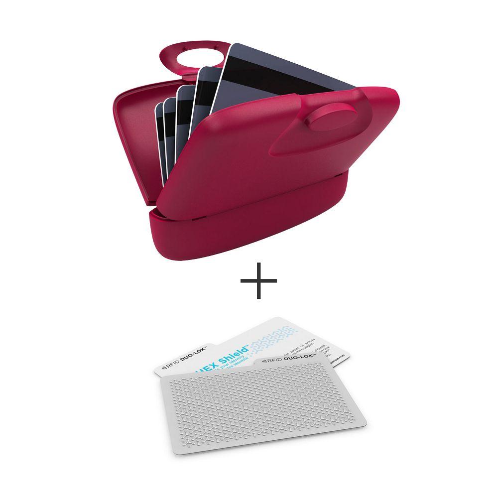 加拿大 Capsul  Duo-Lok RFID防盜錄卡(2張)+萬用夾(1入) - 紫