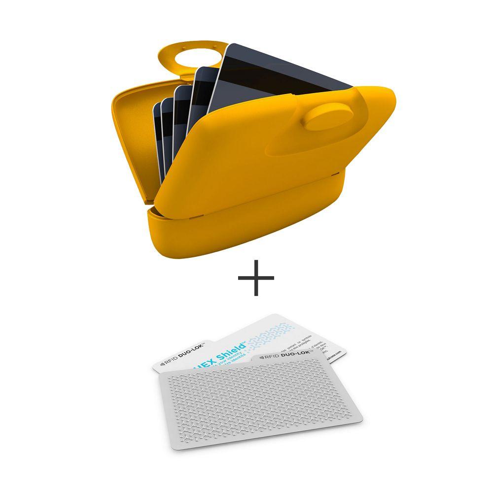 加拿大 Capsul  Duo-Lok RFID防盜錄卡(2張)+萬用夾(1入) - 黃