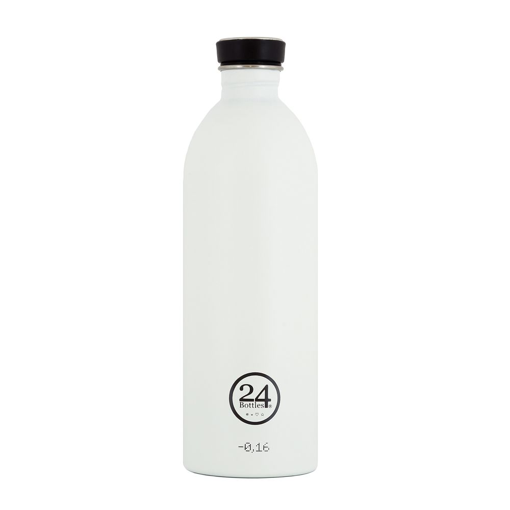 義大利 24Bottles | 城市水瓶 1000ml - 冰雪白