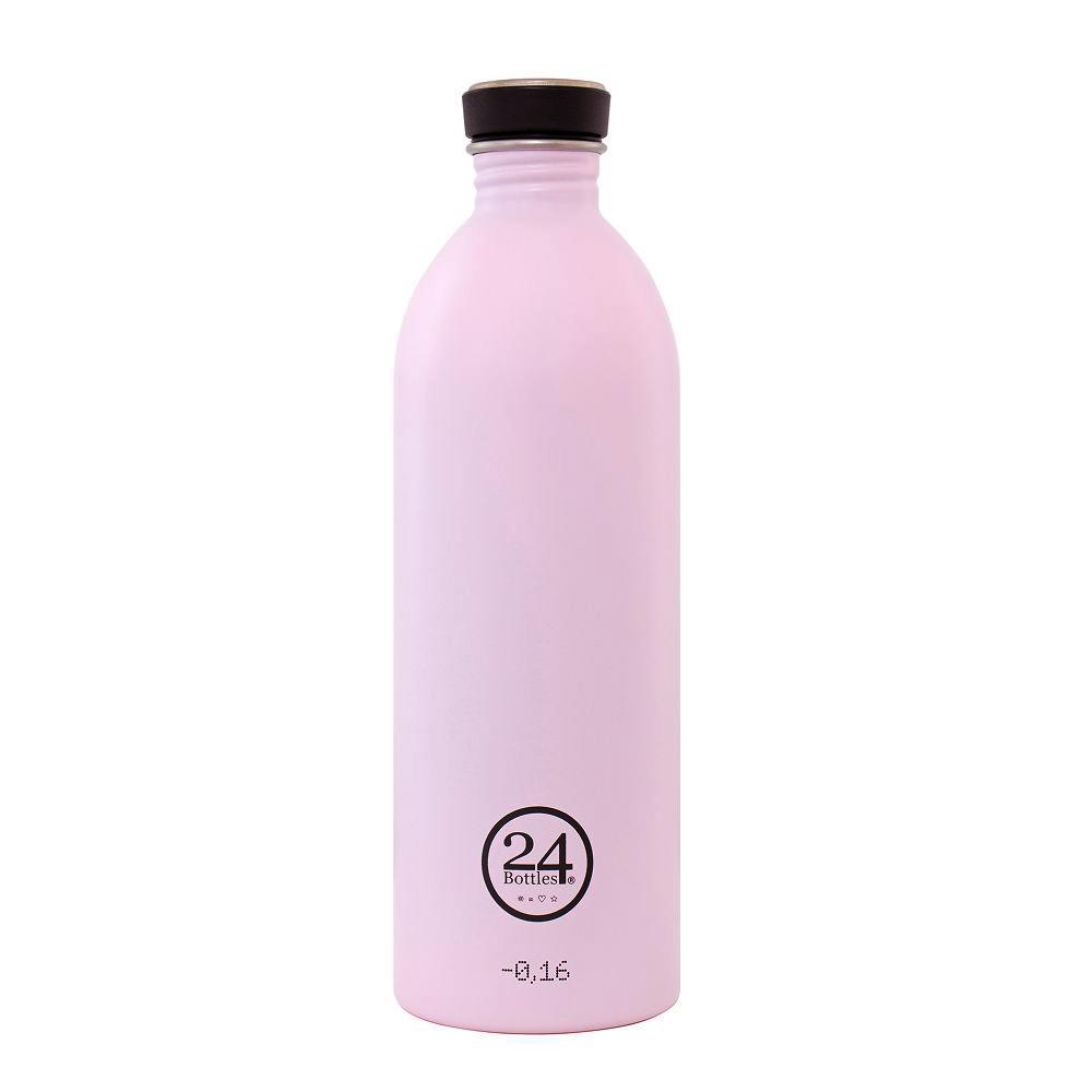 義大利 24Bottles|輕量冷水瓶 1000ml - 糖果粉