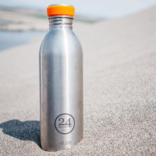 義大利 24Bottles|輕量冷水瓶 500ml - 不鏽鋼