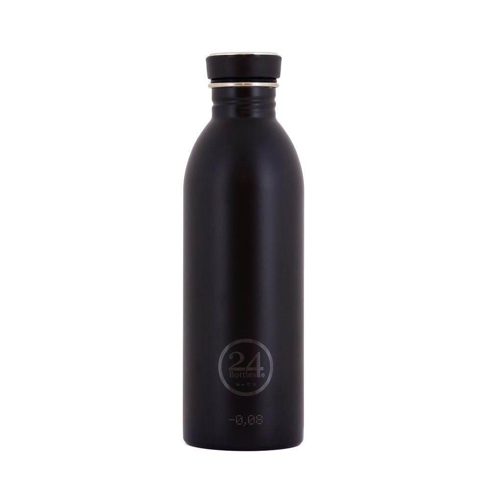 義大利 24Bottles|輕量冷水瓶 500ml - 紳士黑