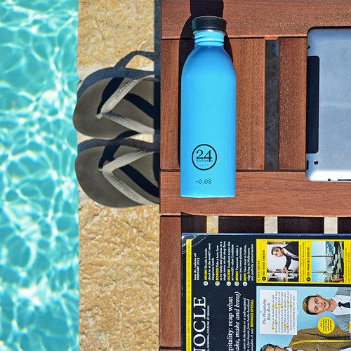 義大利 24Bottles 輕量冷水瓶 500ml - 冰湖藍
