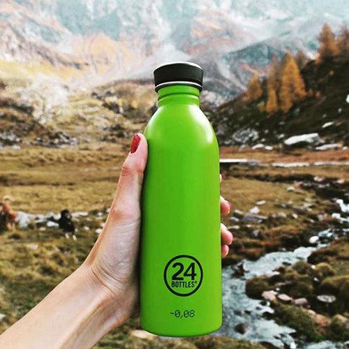 義大利 24Bottles|輕量冷水瓶 500ml - 檸檬綠