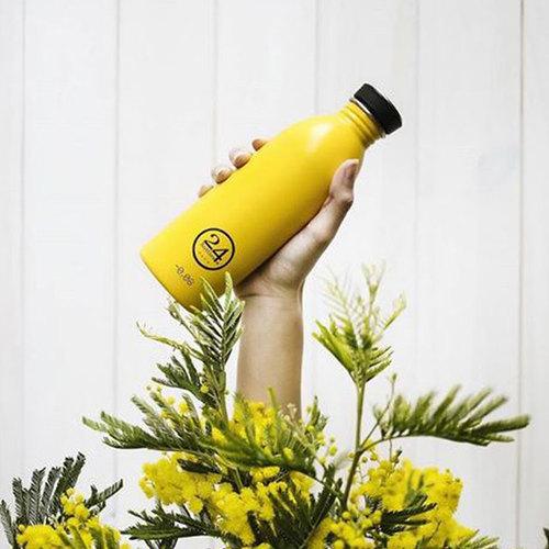 義大利 24Bottles|輕量冷水瓶 500ml - 的士黃