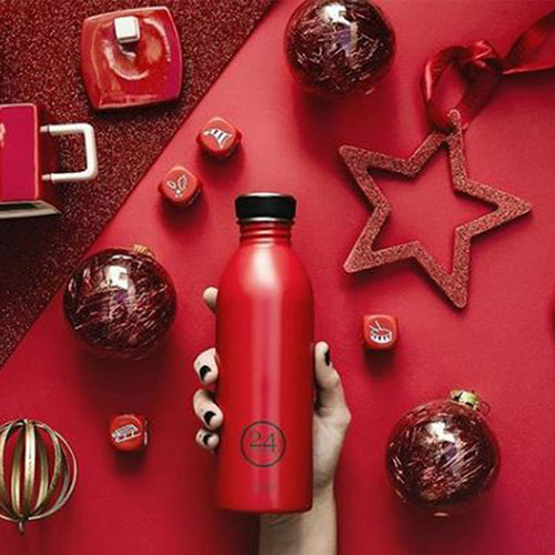 義大利 24Bottles 輕量冷水瓶 500ml - 熱火紅
