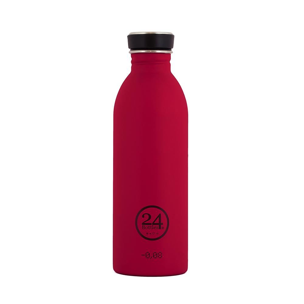 義大利 24Bottles 輕量冷水瓶 500ml - 熱情粉