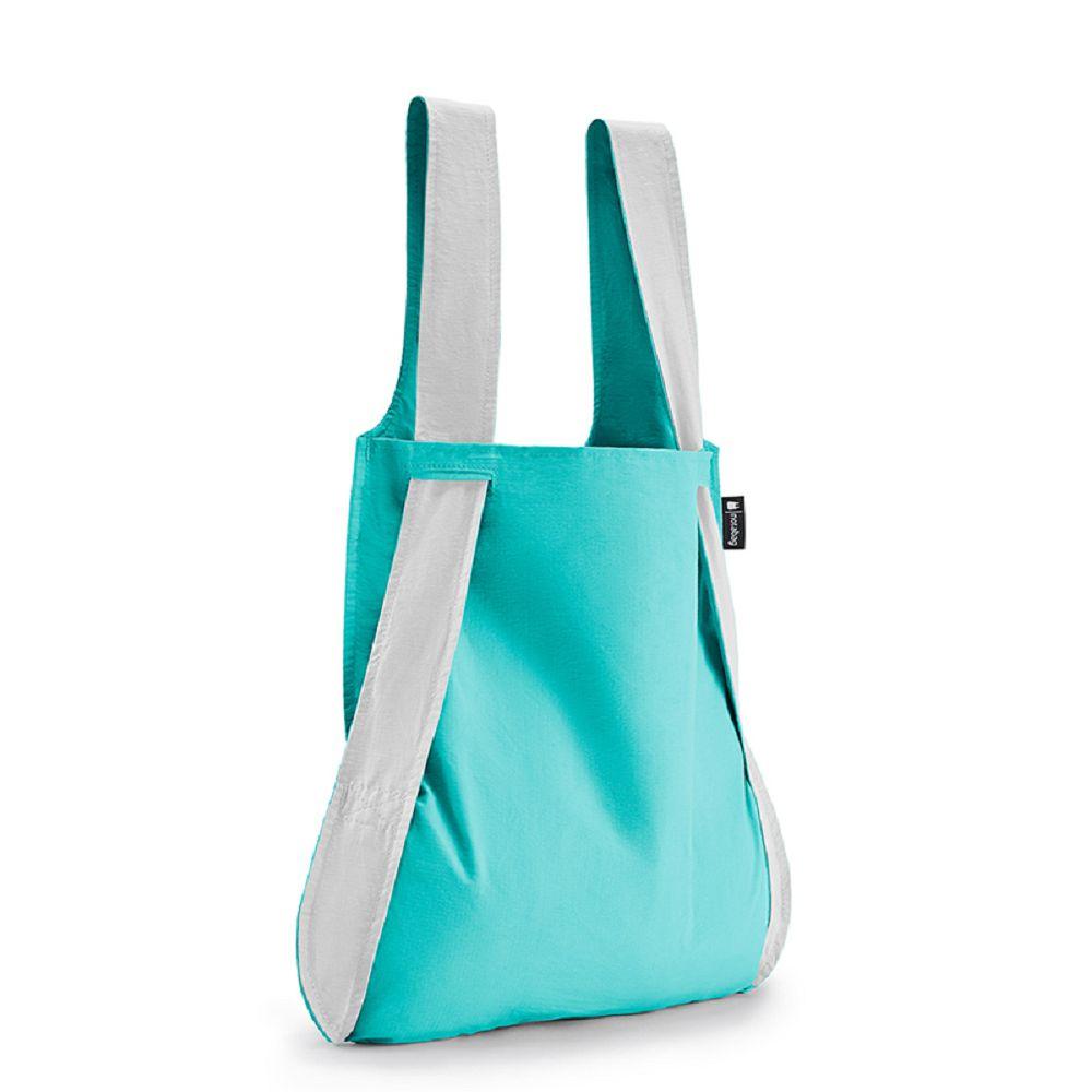 德國 Notabag|反光銀三用後背包/購物袋/手提袋/肩背袋 - 薄荷