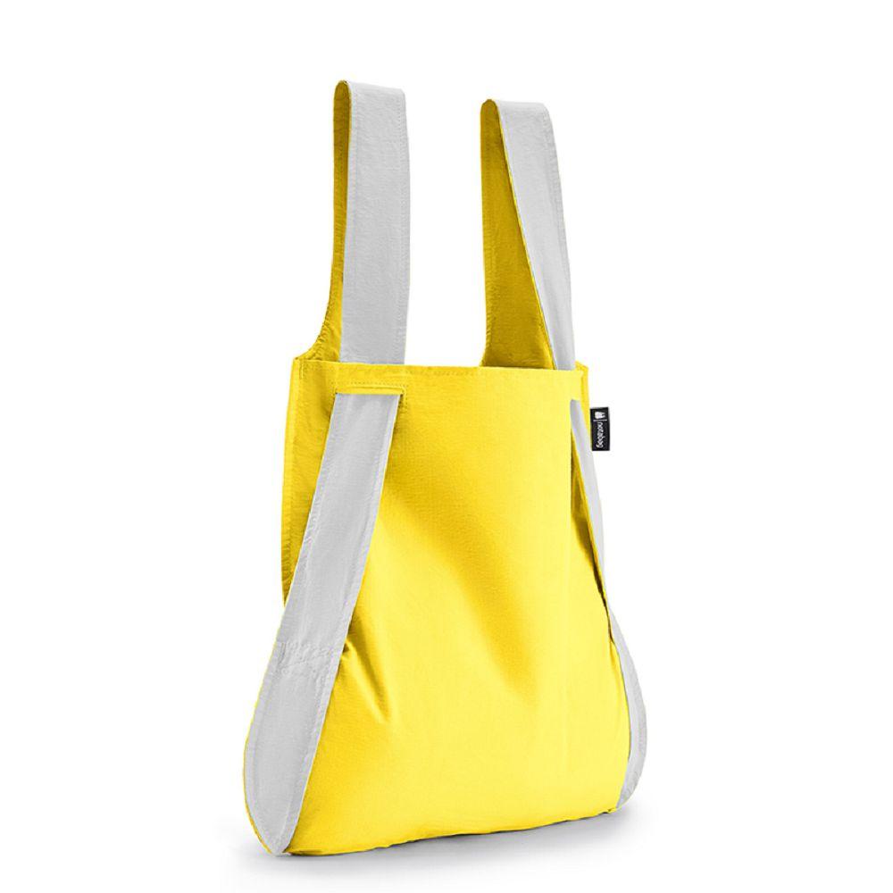 德國 Notabag|反光銀三用後背包/購物袋/手提袋/肩背袋 - 萊姆