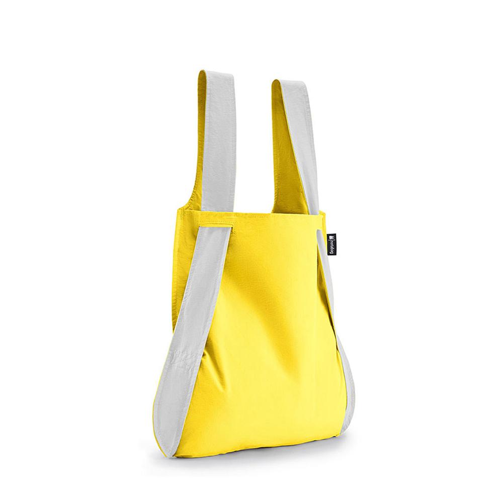 德國 Notabag 反光銀輕巧三用後背包/購物袋/手提袋/肩背袋 - 萊姆