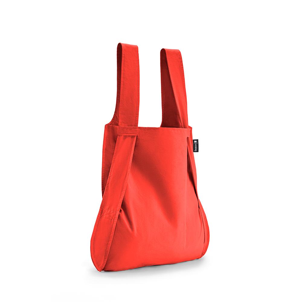 德國 Notabag|輕巧三用後背包/購物袋/手提袋/肩背袋 - 熱火