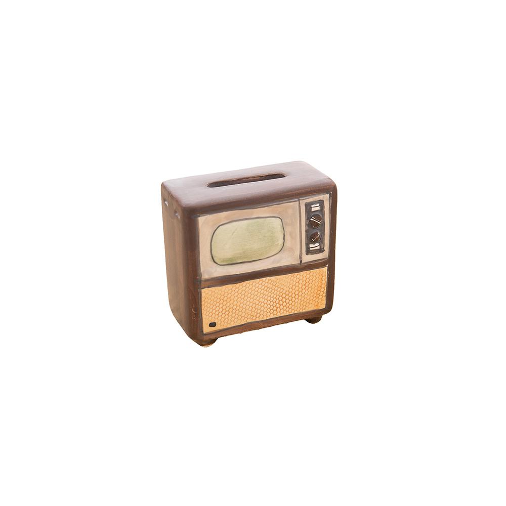 日本 sunart 袖珍貯金箱 - 懷舊電視機