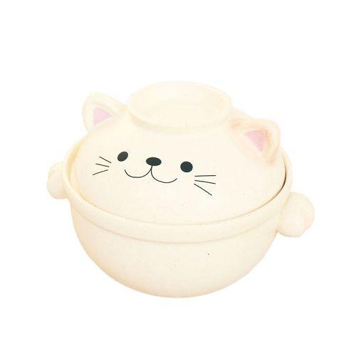 日本 sunart 陶鍋 - 貓咪0.7L