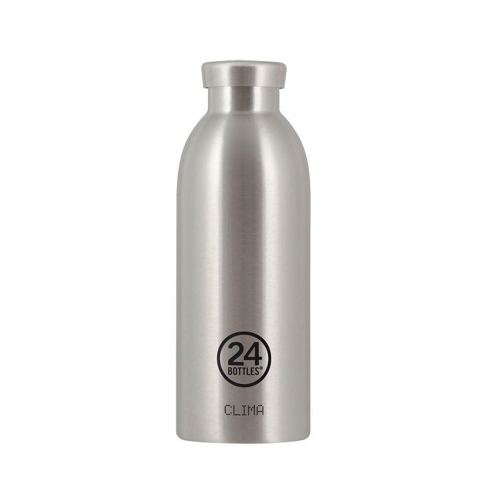 義大利 24Bottles|不鏽鋼雙層保溫瓶 500ml - 不鏽鋼