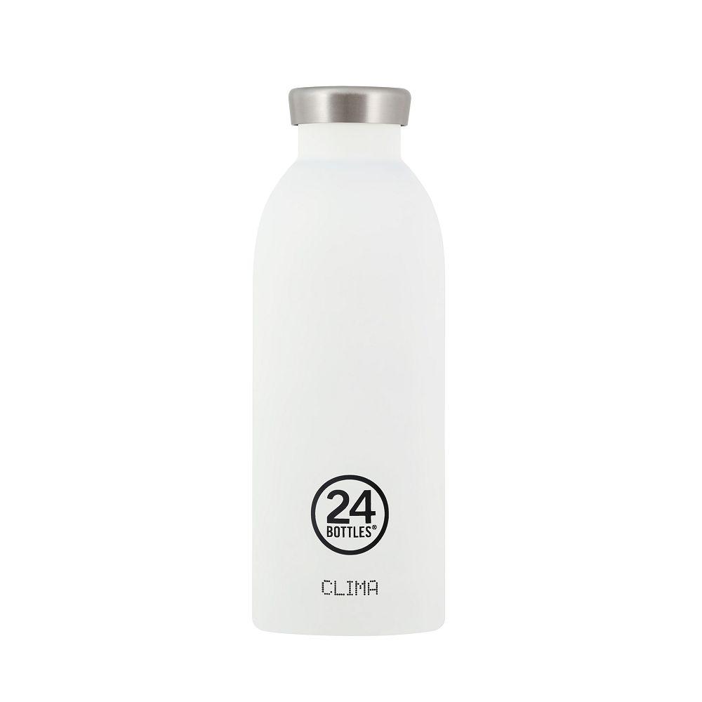義大利 24Bottles | Clima不銹鋼雙層保溫瓶 500ml -  冰雪白