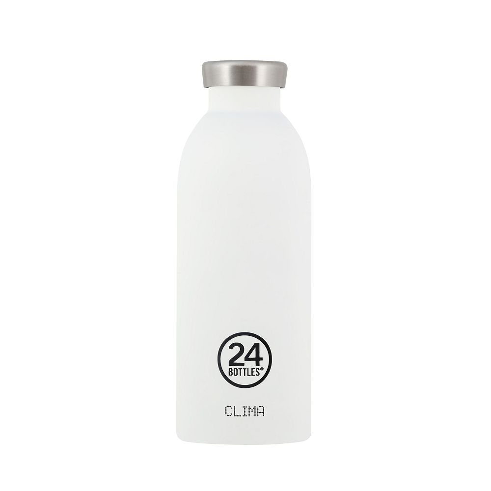 義大利 24Bottles 不鏽鋼雙層保溫瓶 500ml -  冰雪白