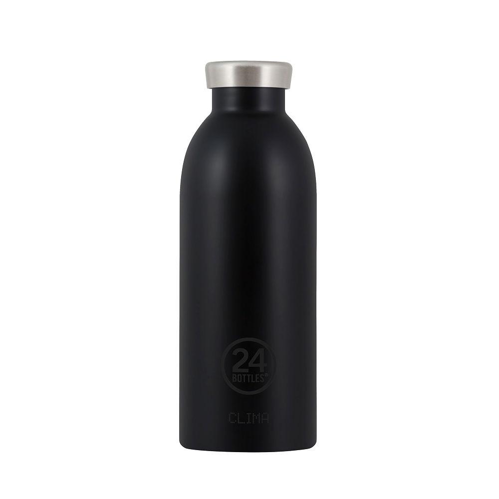 義大利 24Bottles | Clima不銹鋼雙層保溫瓶 500ml -  紳士黑