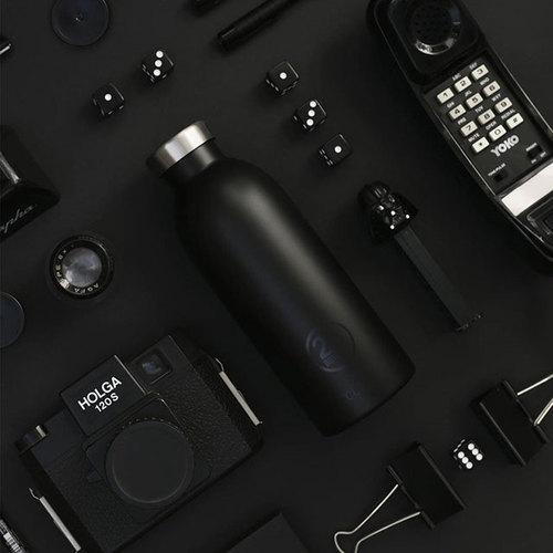 義大利 24Bottles 不鏽鋼雙層保溫瓶 500ml -  紳士黑