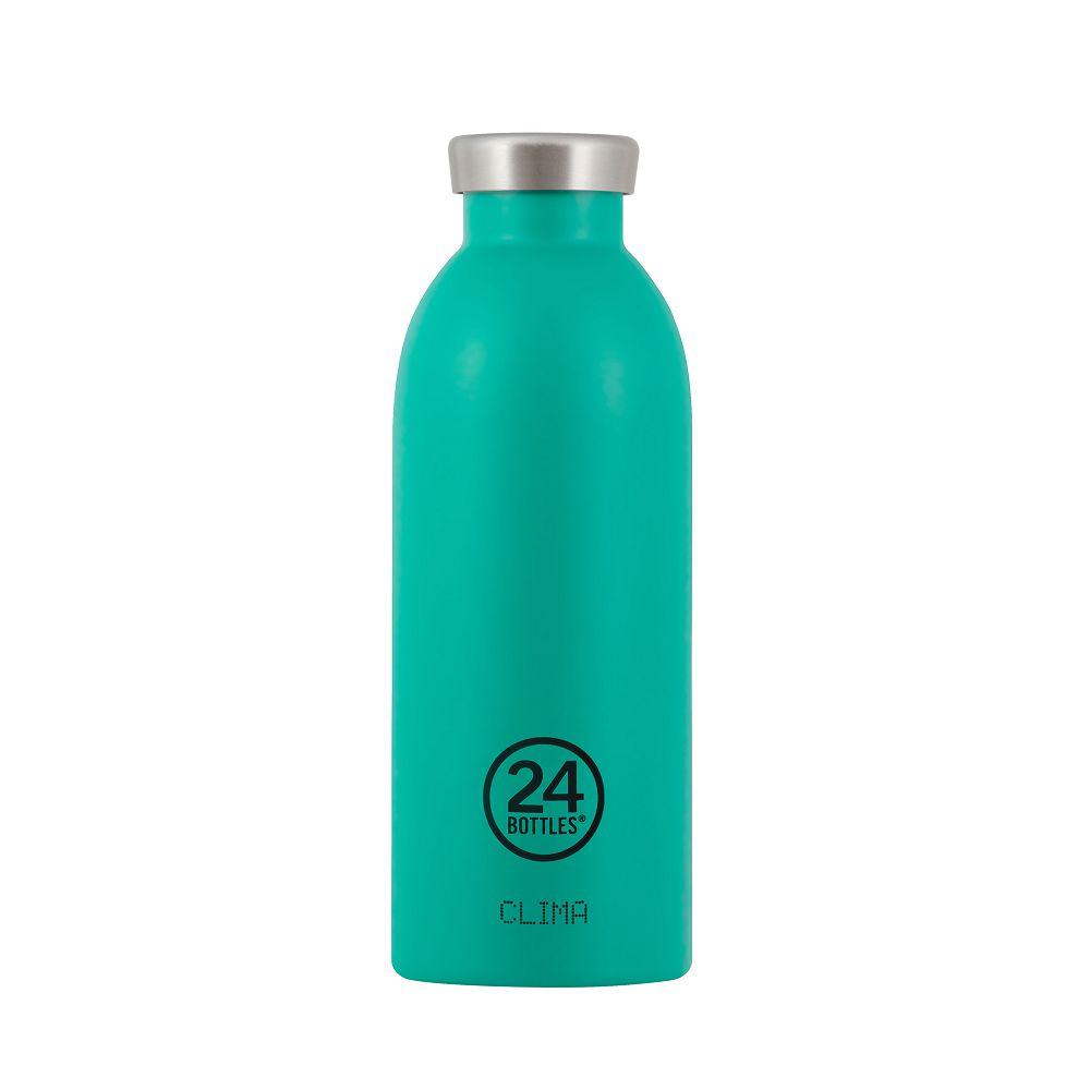 義大利 24Bottles 不鏽鋼雙層保溫瓶 500ml - 海灣藍